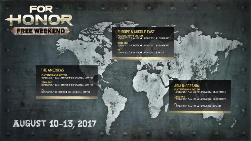 Mapa free weekend for honor