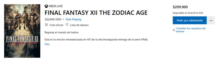 Screenshot_2019-02-25 Comprar FINAL FANTASY XII THE ZODIAC AGE Microsoft Store es-CO