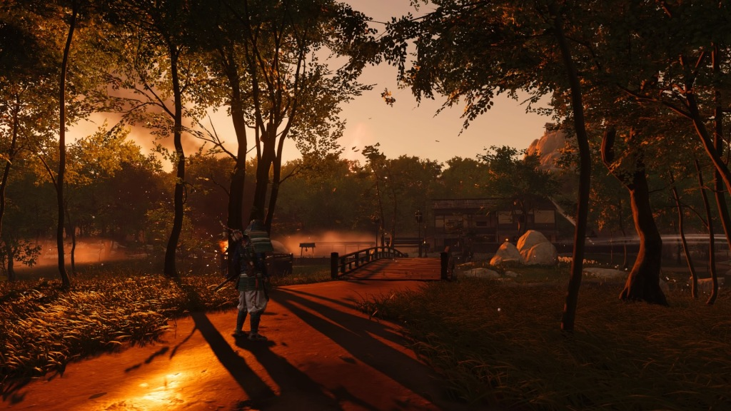 Ghost Of Tsushima atardecer