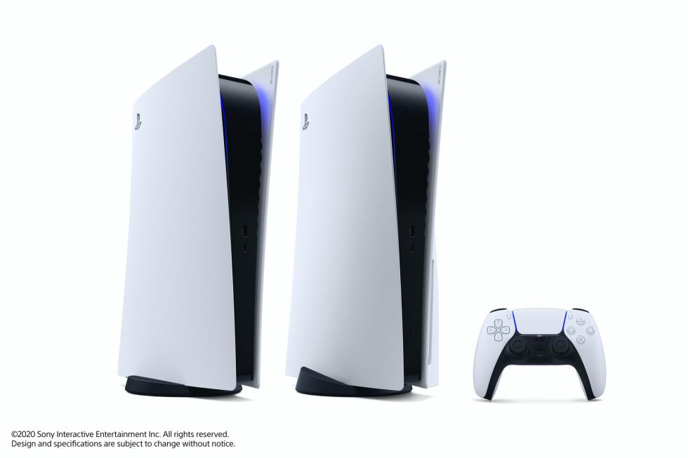 Playstation 5 en sus dos versiones: estándar con lector y digital.