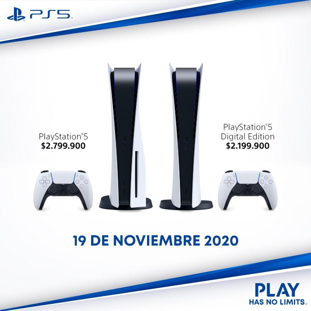 Precio de Playstation 5 para colombia