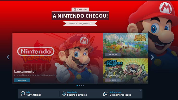 Así luce la incorporación de Nintendo la tienda de Nuuvem