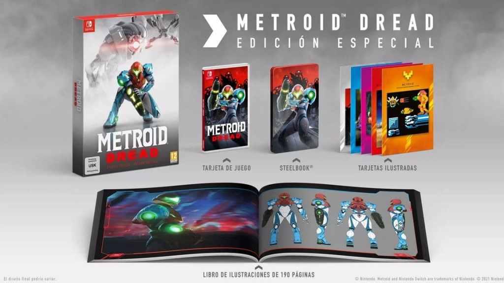 Edición coleccionista Metroid Dread.