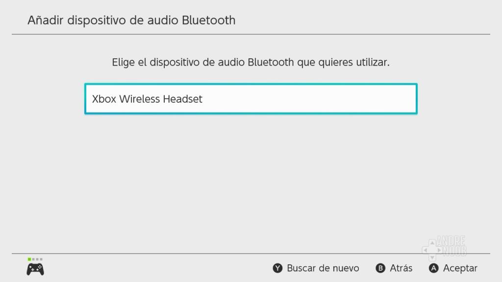 Dispositivo compatible por Bluetooh con Nintendo Switch.