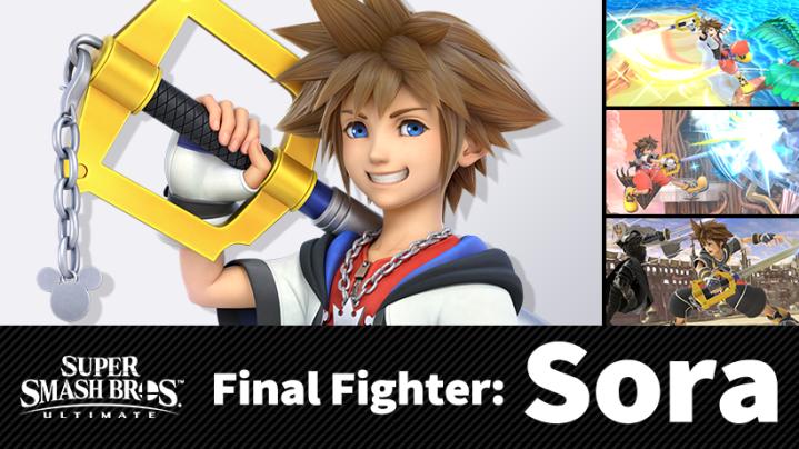 Sora es el ultimo personaje de Super Smash bros Special